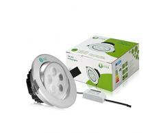 LE 5W LED luces empotradas de techo de Pintura Blanco, Equivalente bombilla de halógeno 50W, blanco diurno, luz empotrada, Downlight