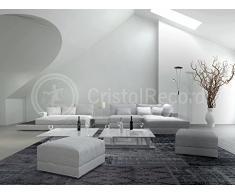 CristalRecord Retro - Lámpara de pie de salón, LED, con brazo de lectura, 18 W + 5 W, luz cálida