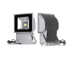 Reflectores del proyector luz de inundación de 100W LED lámpara de luz blanca fría a prueba de agua luz de la pared al aire libre IP65 (2)