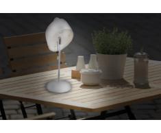 Naeve Leuchten 4041523 Solar - Lámpara de mesa (13,5 x 18 x 36 cm), color blanco