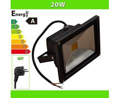 LEDVero iluminadas LED 20 W Foco reflector con enchufe
