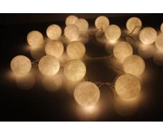 Bola De Algodón Blanco Luz De Hadas Cadena De Luces LED - De Flowerglow
