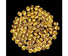NuteDawn 12M 100 LED Cadena Luz Iluminación Navidad, Cadena Ligera, Iluminación de Ambiente para el en al Aire Libre, Patio, Césped, Paisaje, Jardín de Hadas, Casa, árbol de Navidad, Boda, Vacaciones