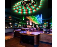 TOOGOO (R) 5M 3528 SMD 300 LED cadena de luz RGB DC 12V a estrenar