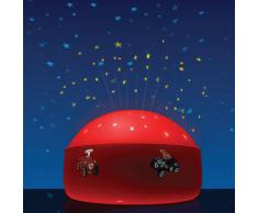 Niermann 80028 BobbyCar - Luz nocturna LED con proyector de estrellas y diseño de coches