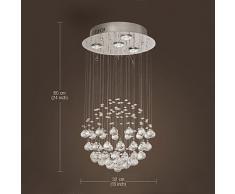 Candelabro de Cristal K9 con 4 Luces en Forma de Globo