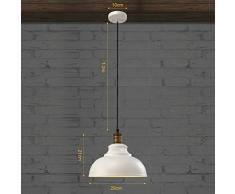 BAYCHEER Vintage lámpara colgante en color marrón oxidado E27 einflam mige Altura Regulable