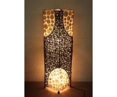 Lámpara de pie asiatica Batur (LA12-41), Decoración luminosa de diseño Bali