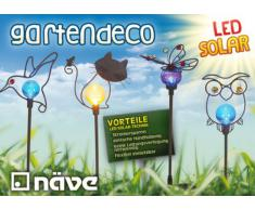 Näve - Baliza solar decorativa, motivo de mariposa
