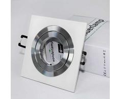 Wonderlamp Clasic W-E0 Foco empotrable cuadrado, Blanco Aluminizado, 1 UNIDAD