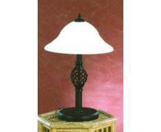 Trio Rustica - Lámpara de sobremesa, 40W, IP20, 740 lumens, E14, color oxido