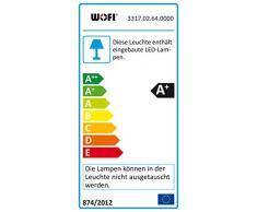 Wofi Lámpara de pie, 18 W, Transparente, 35x28x180 cm