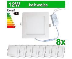 8 x Panel LED SMD 2835 LEDVero maikai 12 W cuadrado blanco frío de la lámpara luz de techo del punto