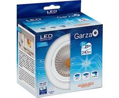 Garza Lighting - Foco Downlight LED empotrable COB direccionable, blanco, luz cálida 3000K