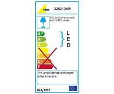 Trio Serie 8282 - Lámpara colgante para interior con 6 luces, SMD, LED, 6 x 4,5 W (incluida), 6 x 430 lm, 3000 K, color cromo