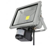 Foco LED 10w con sensor de movimiento de alto brillo interior / exterior -LED de luz blanca fría - MWS