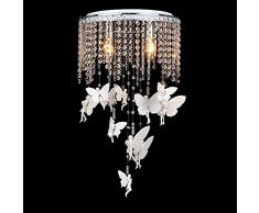 Cristal Ángel niña habitación de lámparas de techo romántica habitación de un niño lámpara de techo dormitorio sala de estudio para la habitación del bebé lámpara de techo accesorios