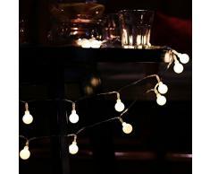 Foxpic Impermeable Cadena de Luces LED Decoración para Exteriores Boda Fiesta Árbol Navidad (4 Metros, 40 LEDs)
