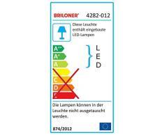Briloner Leuchten Lámpara Colgante LED, Regulable en Altura, Control de Temperatura de Color, 1600 lúmenes, 20 vatios, níquel Mate, W