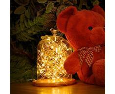 Kohree 10M 100LEDs Guirnaldas Luminosas Cadena de Luces Impermeable para Navidad Jardín fiestas,Cargar por USB