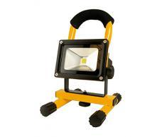 Arcas 10 Watt foco reflector LED con batería, incluye adaptador de CA y cargador adaptador 307 00029