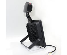 Ledbox LD1020184 - Proyector LED Slim con detector de presencia, 30 W, color blanco cálido