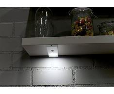 XQ-lite Luz para Armario con LED, Plateado, 3x6x24 cm