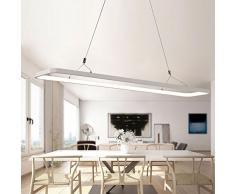 luz piedra moderna lámpara colgante Bombilla LED techo colgante (Altura Regulable de techo (DIMM Bar Oficina de PVC para salón, comedor, restaurante, oficina, habitaciones de trabajo., A: 600 x 200x 20mm, LED 40.0 wattsW 220.00 voltsV