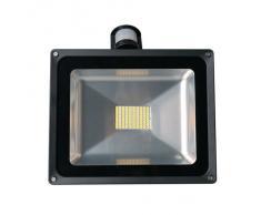 20W/30W/50W/80W Detector de Movimiento Luz, Foco Proyector con iluminación LED y PIR Sensor de Movimiento (80 Watts)