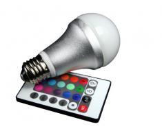 Technaxx RGB - Bombilla LED de varios colores con mando a distancia (50/60 Hz, 85-265 V, A, 60 mm)