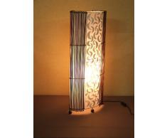 Lámpara de pie asiatica Penida White (LA12-64/WE), Decoración luminosa de diseño Bali
