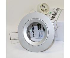 Wonderlamp W-E000036 Basic Basic - Foco empotrable fijo, color aluminio fijo