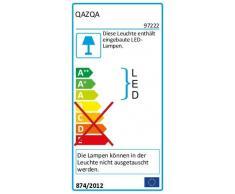 QAZQA Moderno Lampara de pie moderna negra con brazo de lectura LED - IBIZA Vidrio/Metálica Alargada Incluye LED Max. 1 x 20 Watt