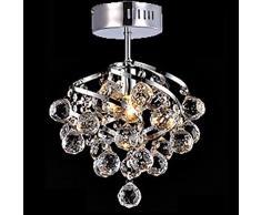 DEBONE 5W E27 Lámpara colgante de cristal para Living Room Candelabros de cristal de Comedor
