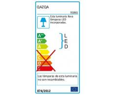 QAZQA Moderno Lámpara de pie DIVA LED 2 bronce Metal Redonda / Alargada / Incluye LED Módulo LED Max. 1 x 18 Watt