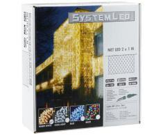 System LED 465-16 - Cadena de LED (luz Blanca cálida, 200 x 100 cm) [Importado de Alemania]