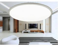LED lámpara de techo lámpara de pared Home Style Ultralslim baño regulable con mando a distancia noche módulo X806-24W plata diámetro 500 mm