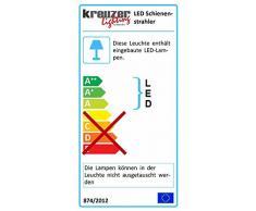 Kreuzer lighting Architecture Line 3 fases de rieles de focos de 15 W, colour negro, 4000 K
