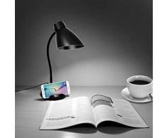 Lámparas de mesa plegable, Juning LED lámpara de escritorio, lámpara de mesa plegable regulable de control táctil LED de 3W, 3 niveles de brillo, las enfermeras del ojo lámpara del libro para niños