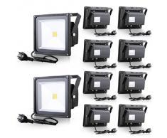 La luz del proyector de luz de inundación inundación de 30W LED con Plug Warm White Wall Lámparas Iluminación Exterior Iluminación Interior (10)