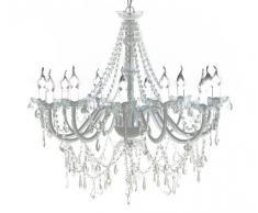 VidaXL - Lámpara de araña para techo con lágrimas colgantes (12 bombillas)