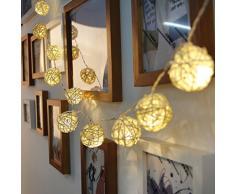 Dailyart® 13.8ft 40 Leds de luz cadena, en interiores, decorar para la Navidad, boda, Halloween, el día de San Valentín----operación de la batería (Blanco Cálido)
