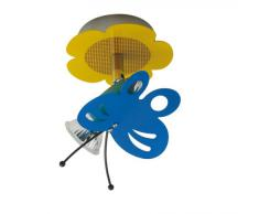 Näve Leuchten 114861 Schmetterling - Lámpara infantil de techo (cascillo GU10, 50 W, 230 V, 50 Hz, 12 x 14 x 13 cm, bombilla incluida, metal), diseño de mariposa