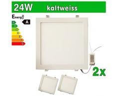 LEDVero SMD 2835 LED ultrafina Panel, 24 W, lámpara de techo cuadrada LED foco, blanco 24.0|wattsW