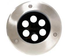 Cablematic - Foco LED de suelo 6W 150mm luz blanco frío día