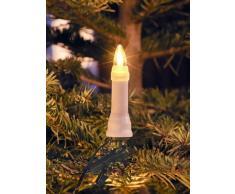 Konstsmide 1013-010 - Guirnalda de velas LED para árbol de navidad (16 diodos de blanco cálido, transformador interno de 24 V, 3,2 W)