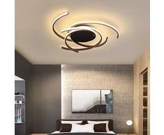 Luz Techo Dormitorios Plafon LED Diseño Lamparas de Techo Modernas Para Comedor Regulable 3000 K-6500 K con Control Remoto Decoracion Salon Modernos Habitacion Mesa de Salon Comedor Lamparas LED Techo
