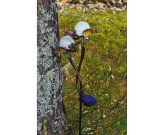 Näve - Baliza solar decorativa, motivo de mariposas