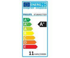 Philips - Bombilla LED esférica E27, 11 W, equivalente a 50 W, blanco cálido, 1055 lúmenes, no regulable