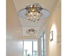 593522 linxian® Lámpara cristal simple y elegante Lámpara de techo cristal moderna de 4 piezas para sala de estar Lámpara de techo cristal moderna para dormitorio